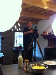 Bertrand Gaillard pendant le tournage